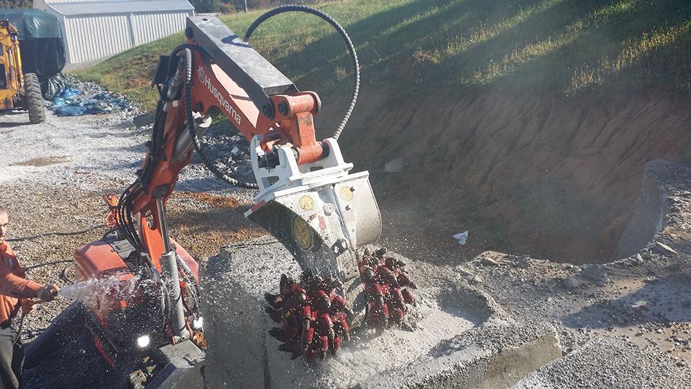 AQ1 on Husqvarna Robot | Antraquip Corporation | Roadheaders
