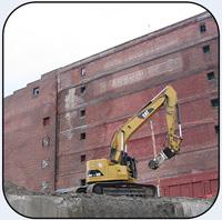 AQ4 CAT328 Concrete Demolition Roadway