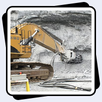 AQ-6 Mining 180-200MPa Limestone with Production rate of 10-15 cubic meters per hour