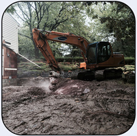 AQ2 on Samsung 140 for Rock Excavation next to House