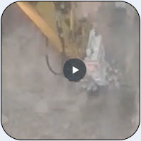 AQ 4 Rotary Scaler on PC360 Excavator