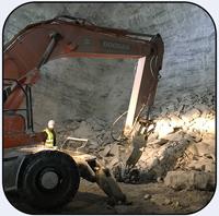 AQ-3XL on Doosan EX210 Scaling Underground Mine Georgia.