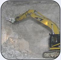 AQ-4 on CAT325 Scaling Underground Limestone Mine.