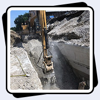 AQ-6 Trenching Limestone with Compressive Strength Ranging 18,000-30,000psi