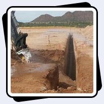 AQ-2 on John Deere Backhoe Loader Trenching in Phoenix, AZ