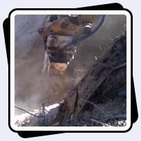 Trenching in Hard Limestone in Kentucky. AQ-3XL on CAT320