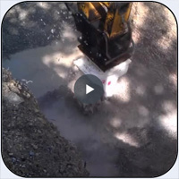 AQ-4 Transverse Cutter Head on PC360 working in hard limestone
