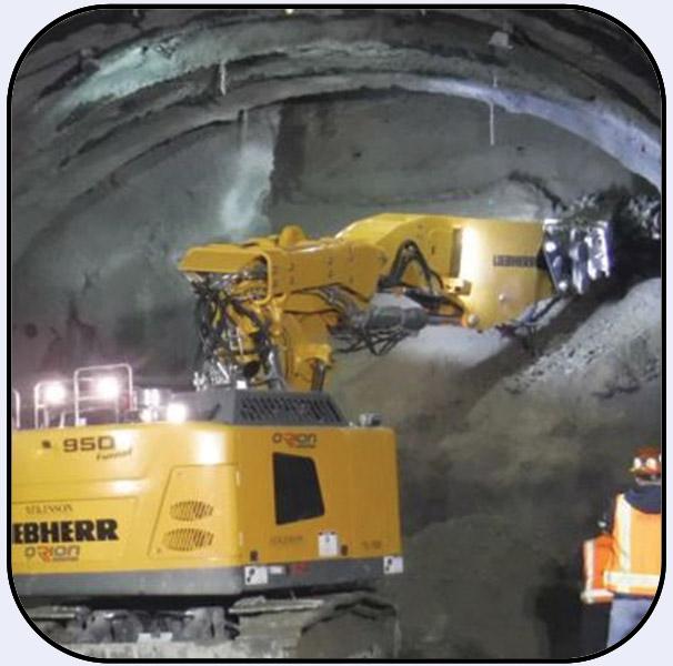 AQ-4XL Cutter on Liebherr 950T for Tunnel Excavation in Seattle Washington