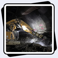 AQ-4XL on Liebherr 950T Excavating Metro Tunnel Extension in Washington DC