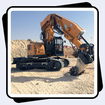 AQ4 on Liebherr 934T Tunnel Excavator Prior to Riyadh Metro Tunnel Project Excavation