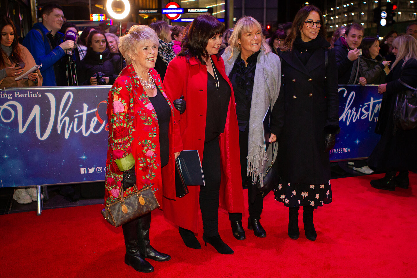 White Christmas press night at the Dominion Theatre, London