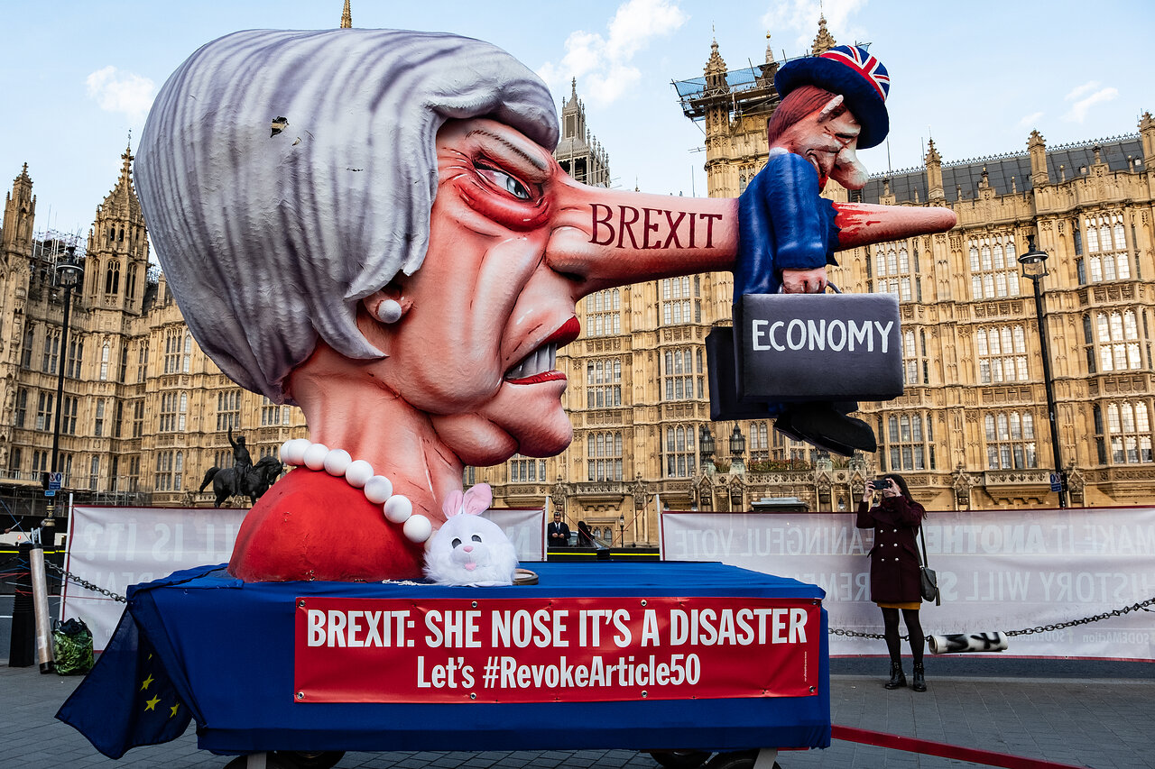 Theresa May Effigy