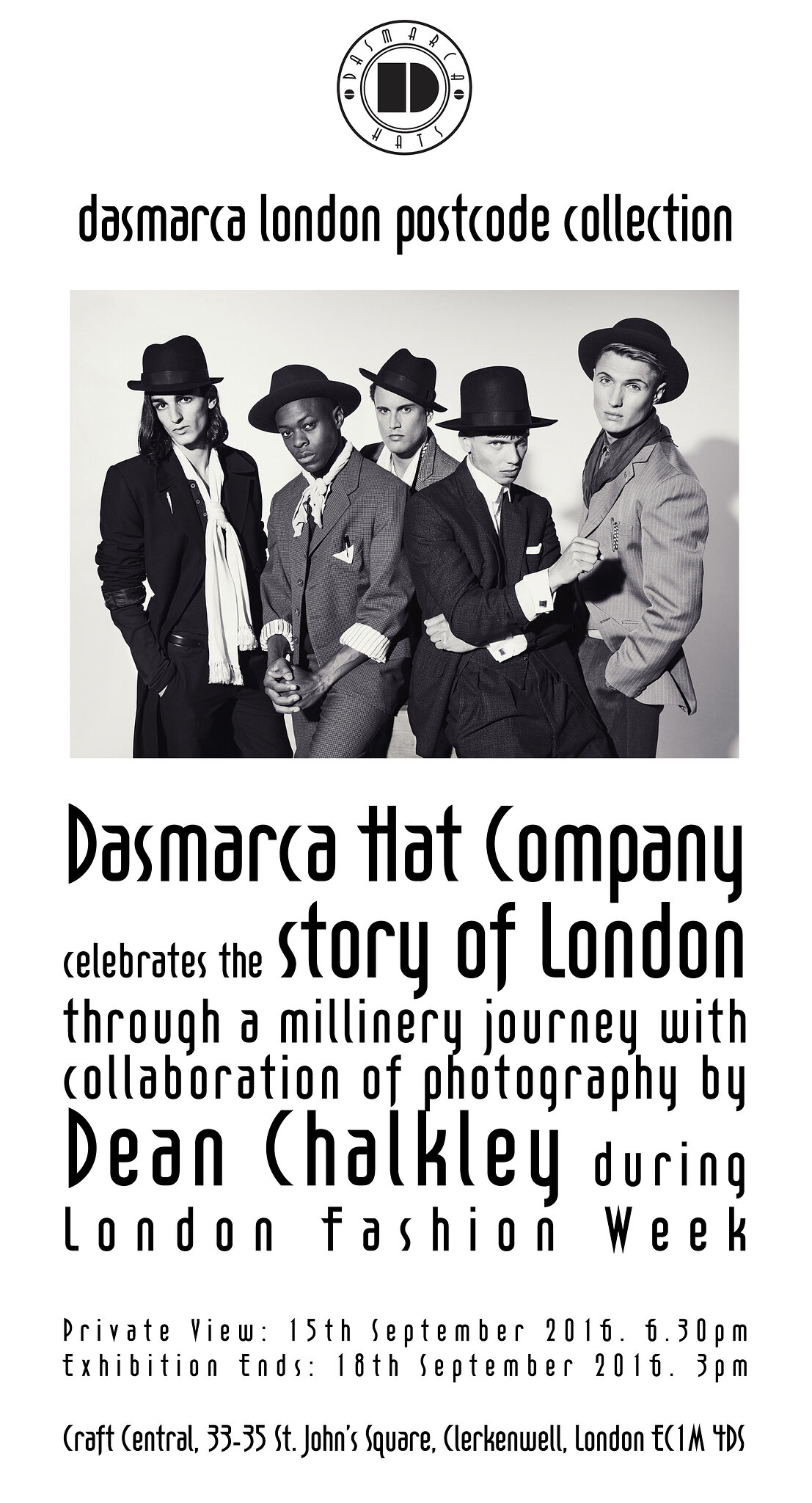 Dasmarca: Postcode Hat Collection Launch Party
