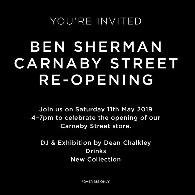 d5e35b9d4351 On Saturday 11th May Dean will be DJing at the Ben Sherman Carnaby Street  store re-opening.