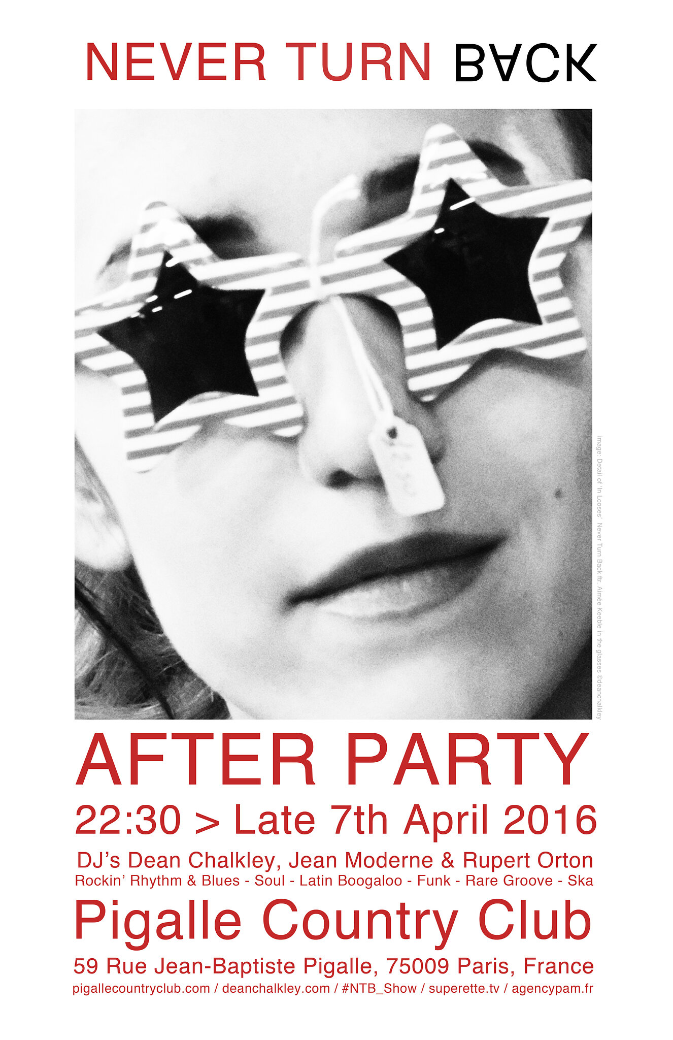 Never Turn Back: Paris Aftershow Party Announced