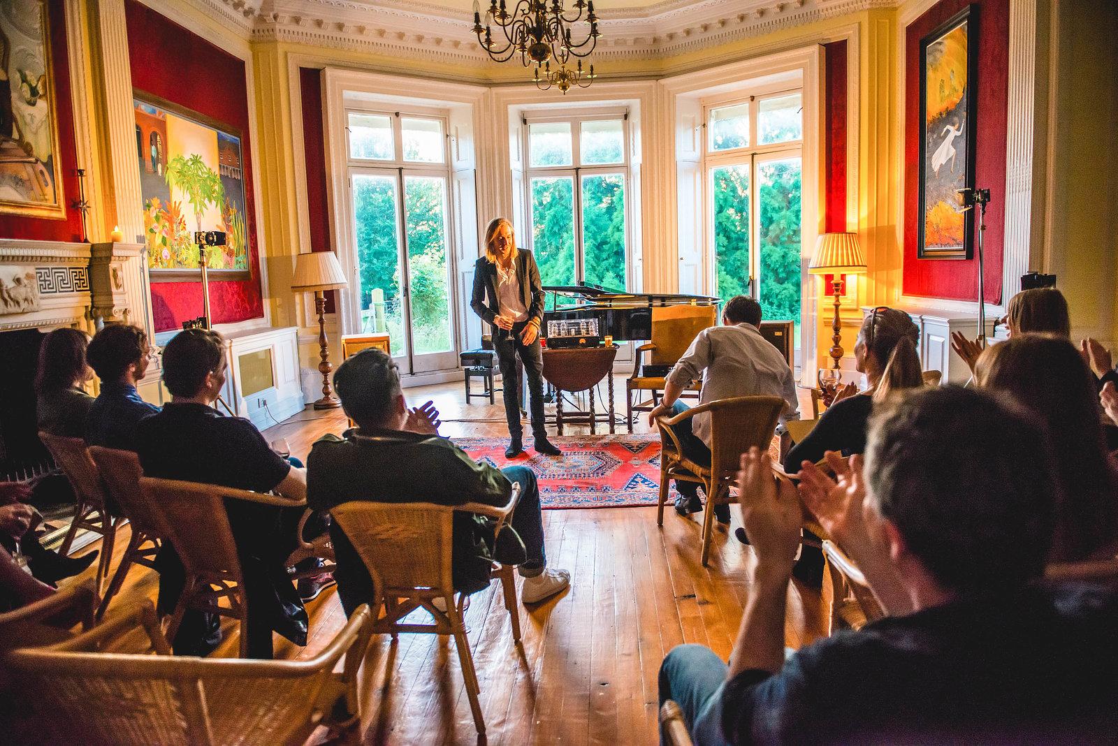 St Leonard's Horses album playback at Stanley Kubrick's Estate, July 2016