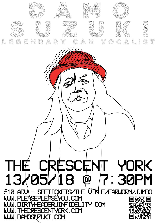 Damo Suzuki Live @ The Cresent, York 2018