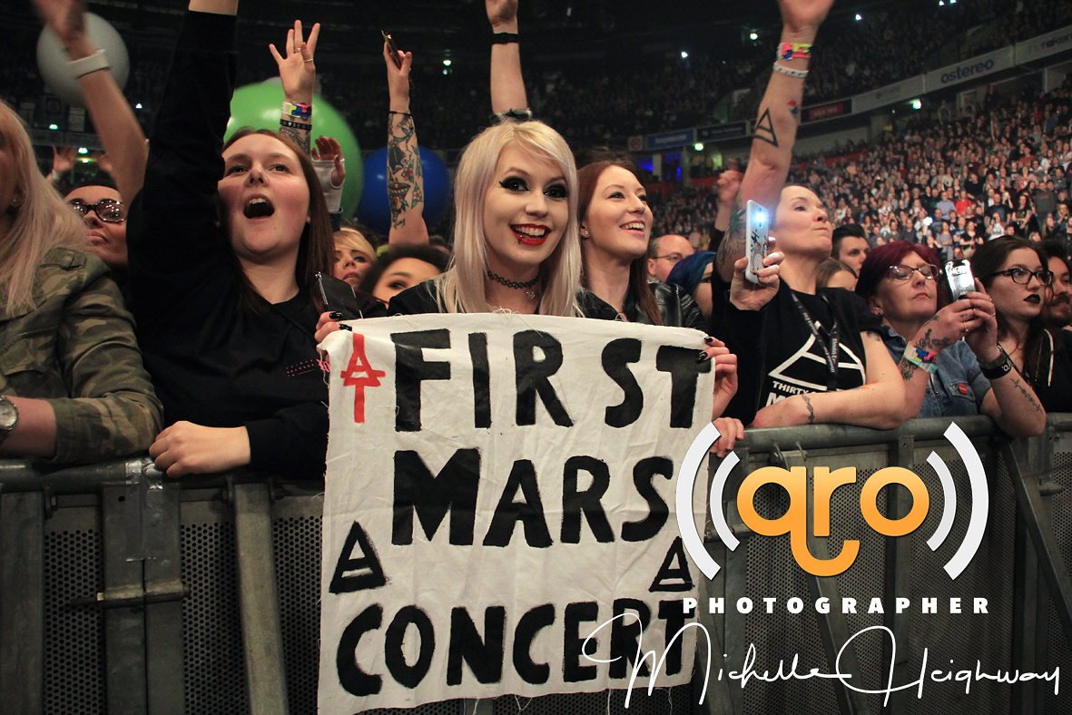 Thirty Seconds to Mars Crowd, Live @ Manchester Arena , 24 March 2018
