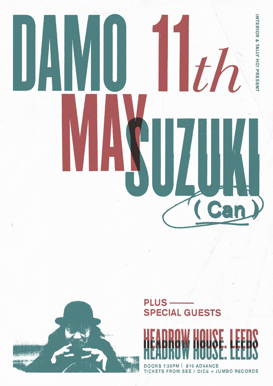 DAMO SUZUKI LEEDS SHOW