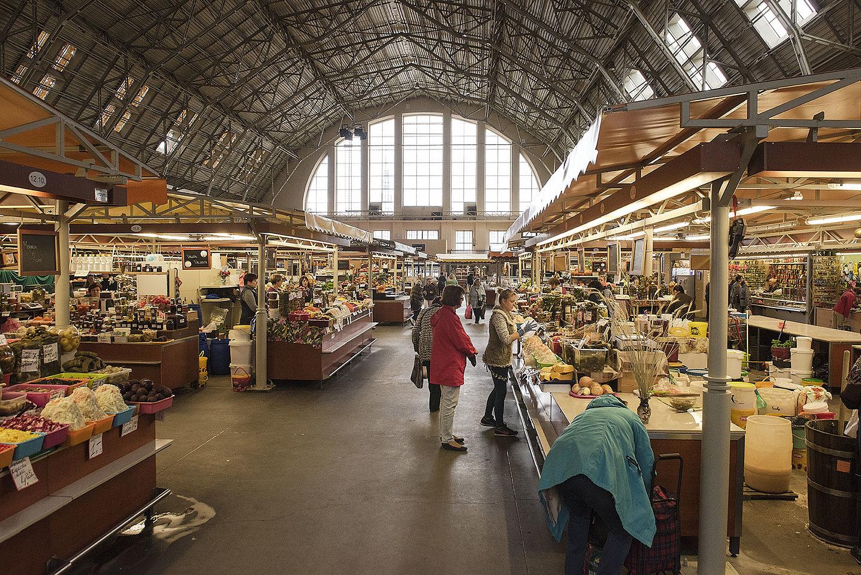 Inside a Market Hanger