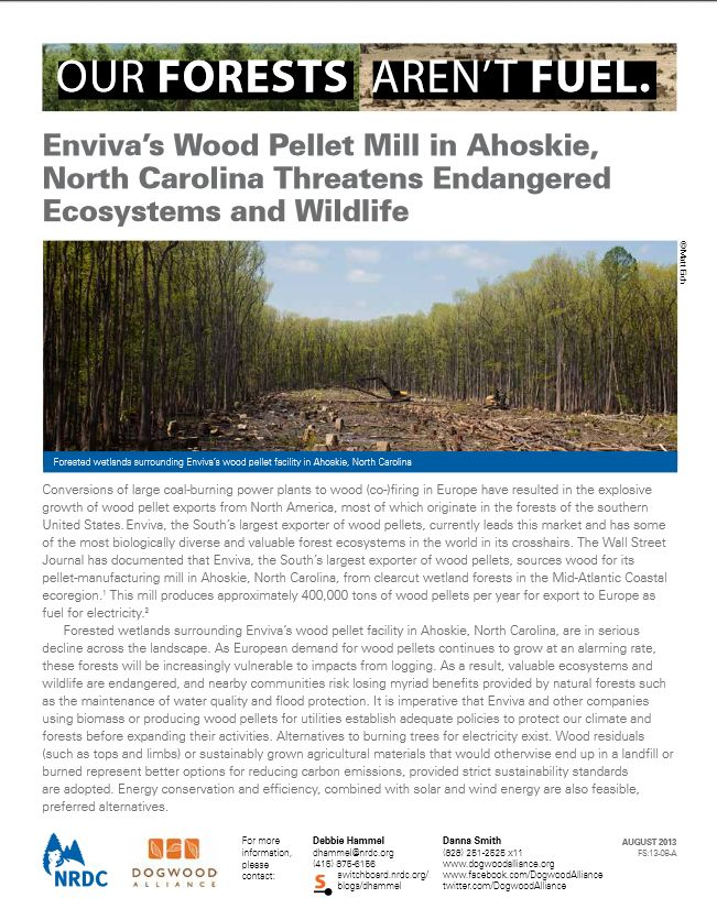 Press Release: New Maps Reveal Enviva's Ahoskie Wood ...