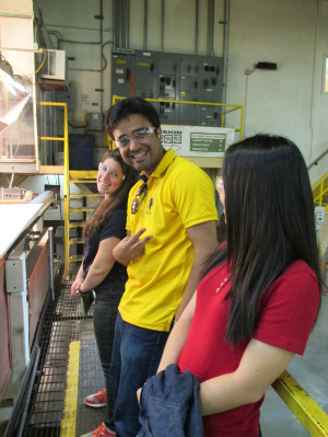 Some of Dogwood's lovely interns enjoying the field trip.  From left to Right:  Rachel, Arjun, Siyu