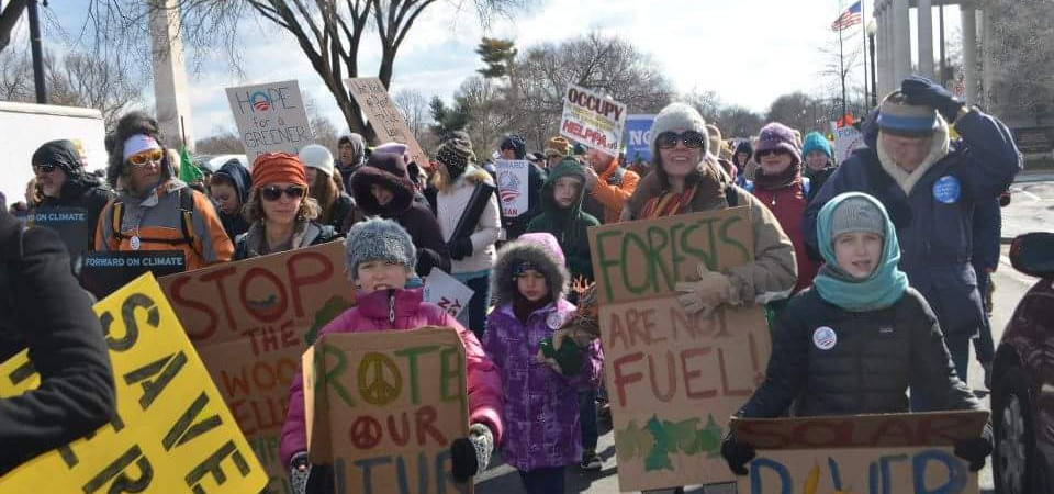Summer and Danna Climate March
