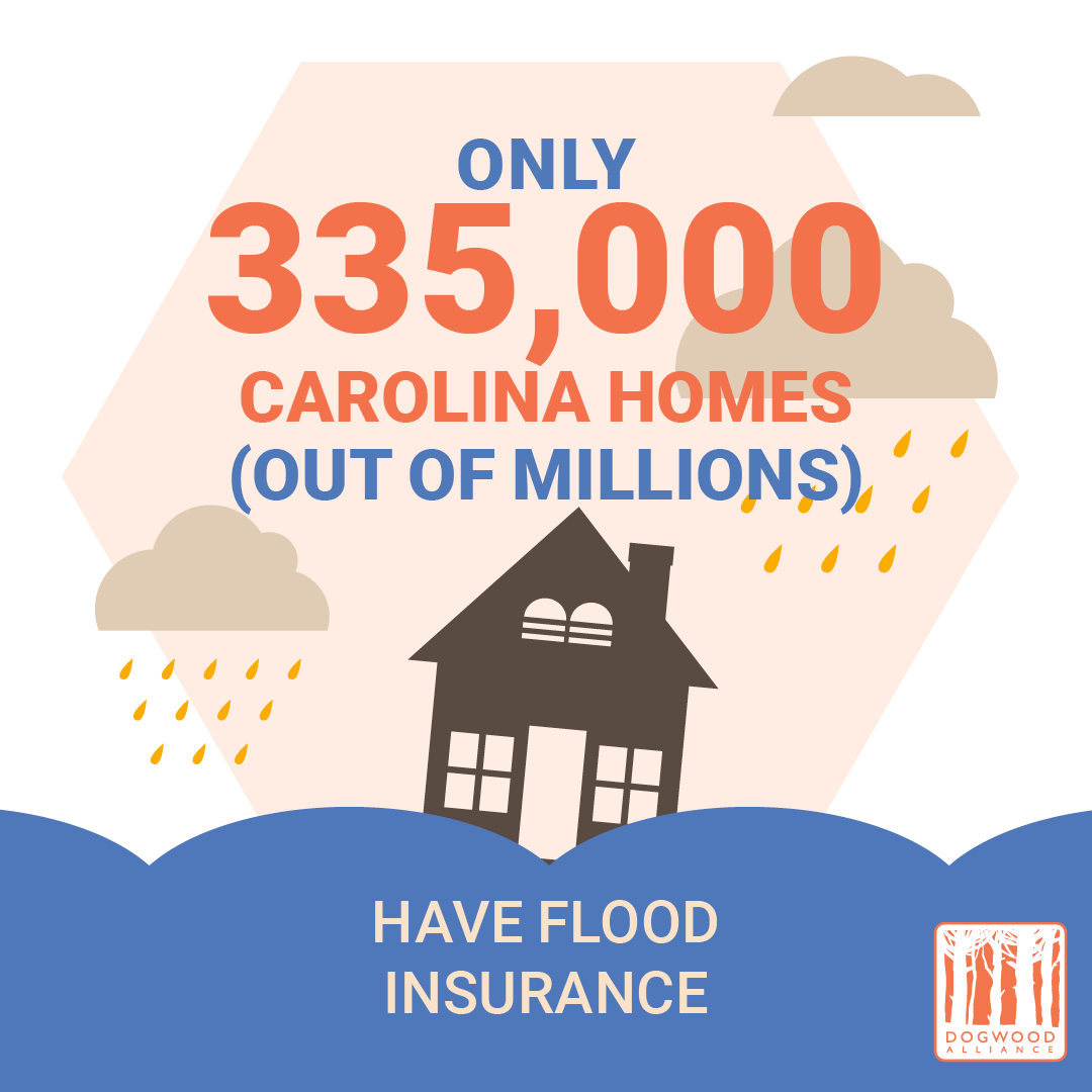 only a fraction of NC and SC homes have flood insurance that need it