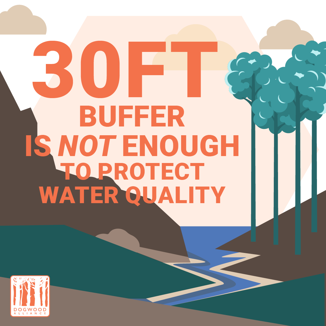 30 foot buffers are not enough to protect water quality