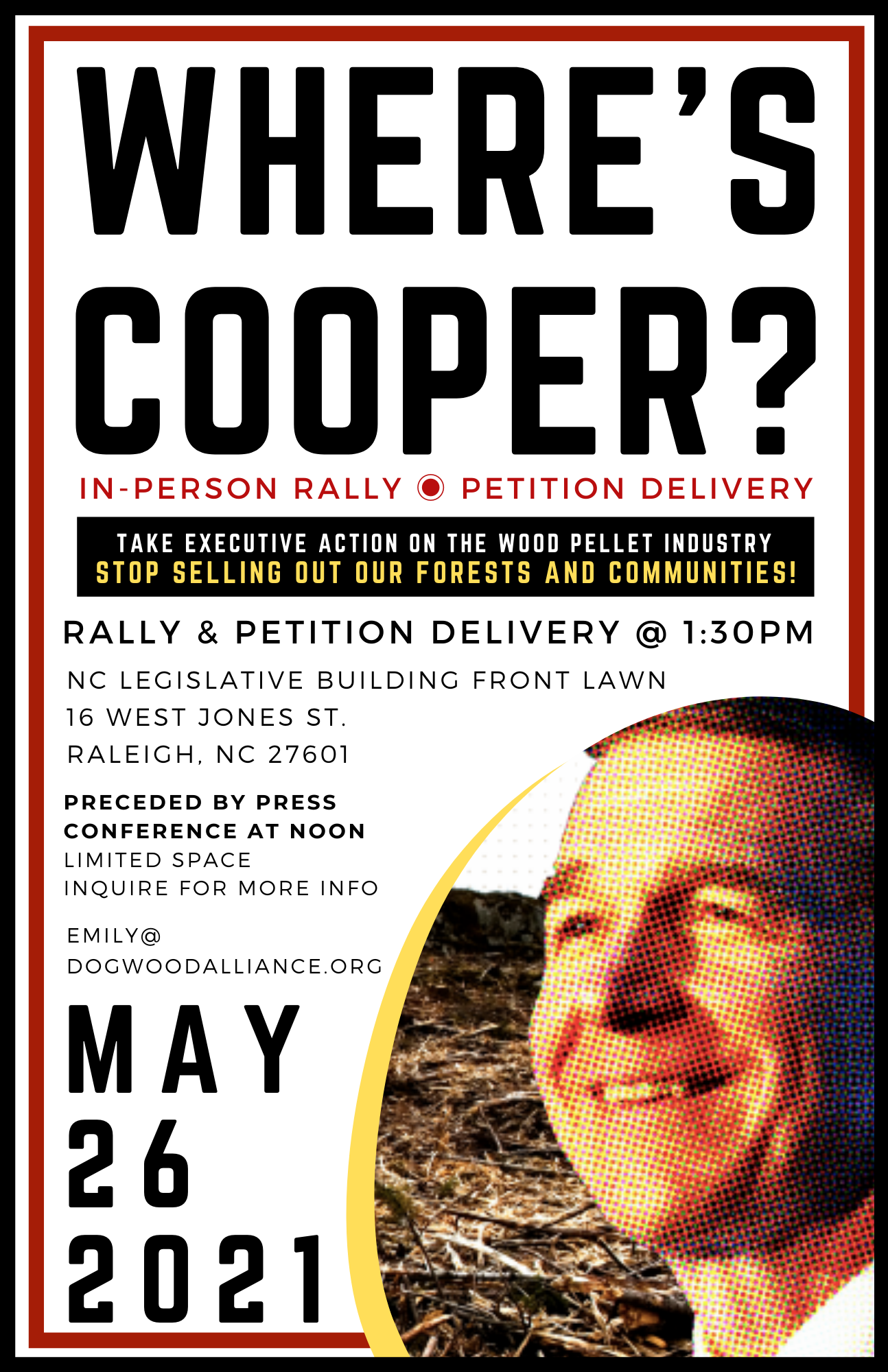 Governor Cooper Rally for Forests and Justice