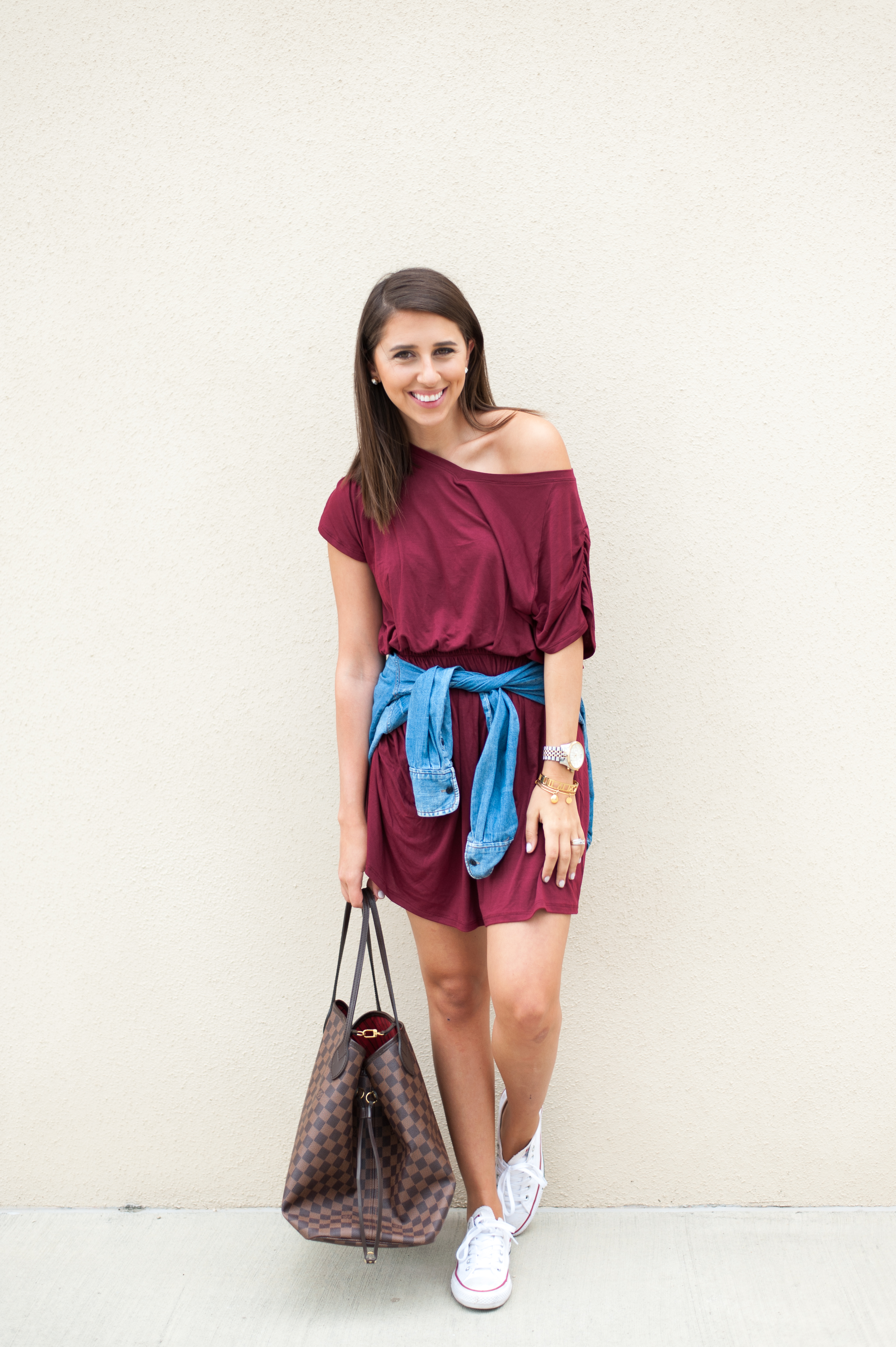 Dress Up Buttercup // A Houston-based fashion and inspiration blog developed to daily inspire your own personal style by Dede Raad | Merlot Swing Dress