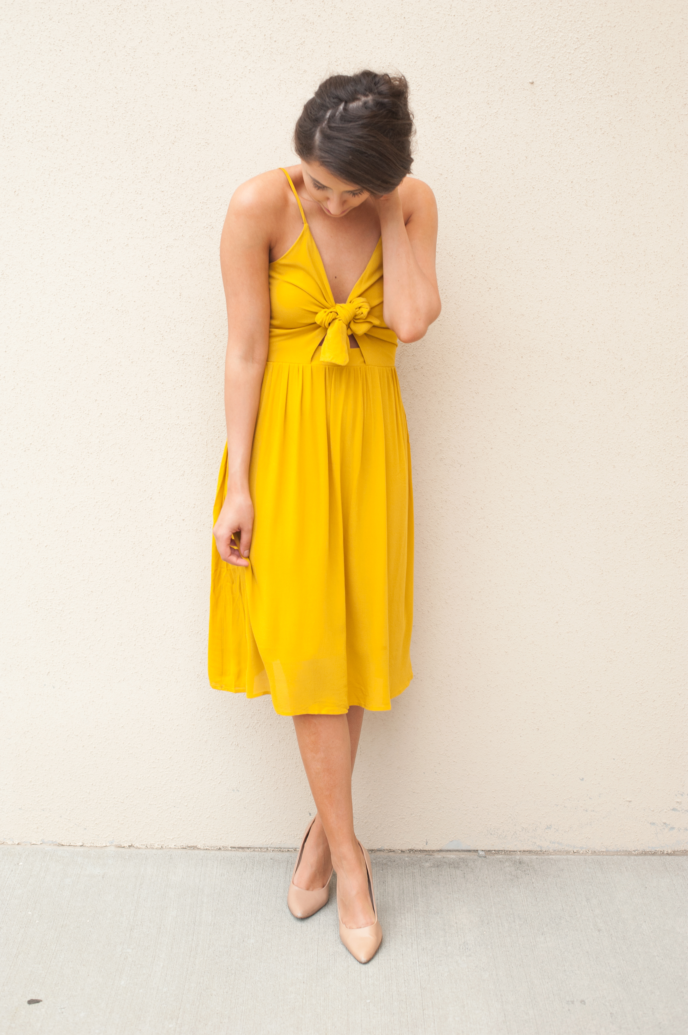 Dress Up Buttercup // A Houston-based fashion and inspiration blog developed to daily inspire your own personal style by Dede Raad | Yellow Tie Front