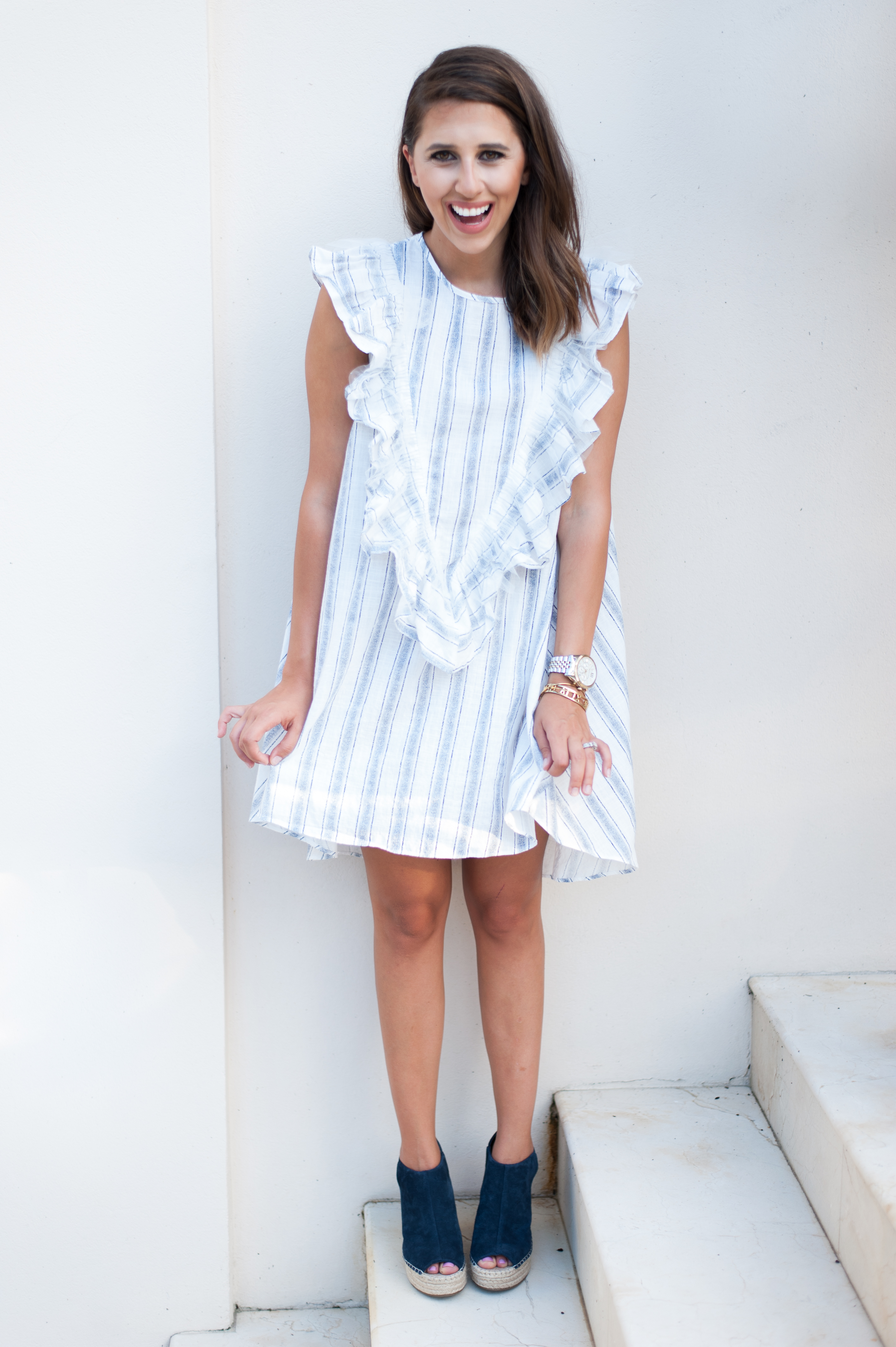 Dress Up Buttercup | Houston Fashion Blog - Dede Raad | Fun Ruffle Dress