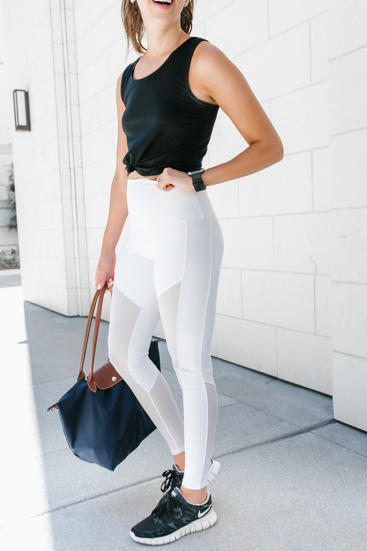 Dress Up Buttercup, Dede Raad,Fashion Blogger, Houston Blogger, Workout clothes, Equinox, White Leggings, Gym attire, working on my fitness