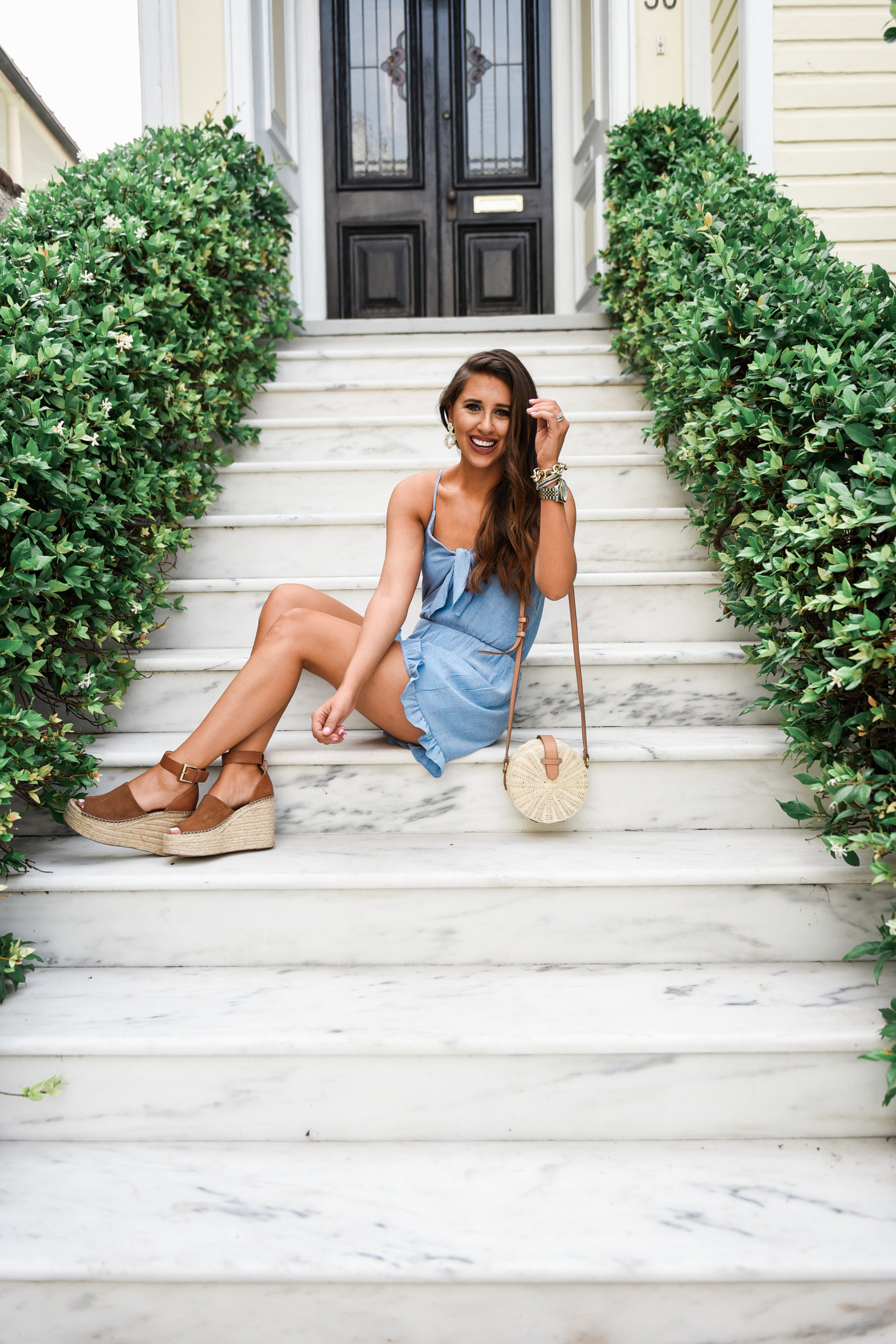 Tie Romper Under $50, dress up buttercup, houston fashion blogger, everly, summer fashion