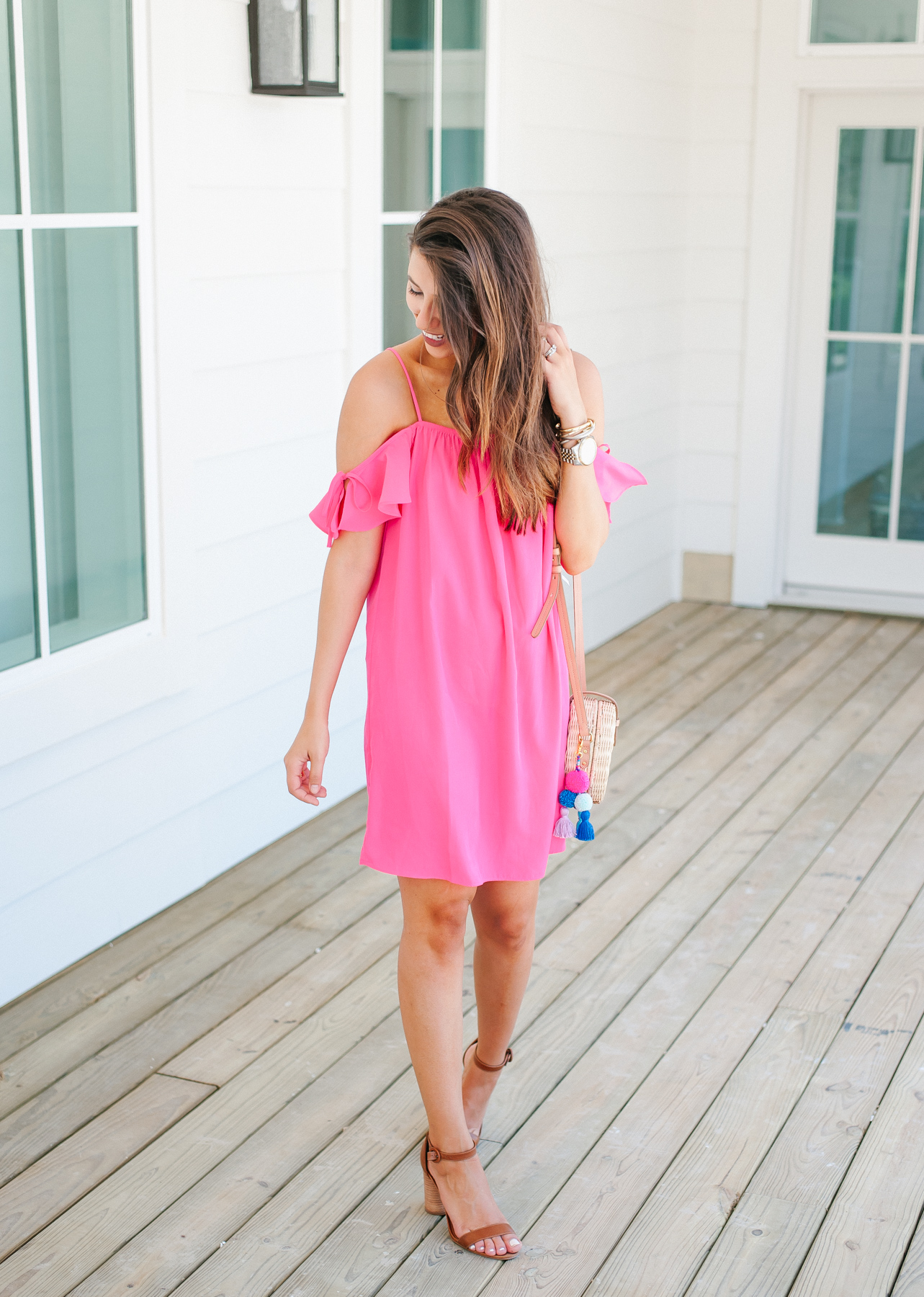 Dress Up Buttercup, Dede Raad, Houston blogger, fashion blogger, Cold Shoulder Dress