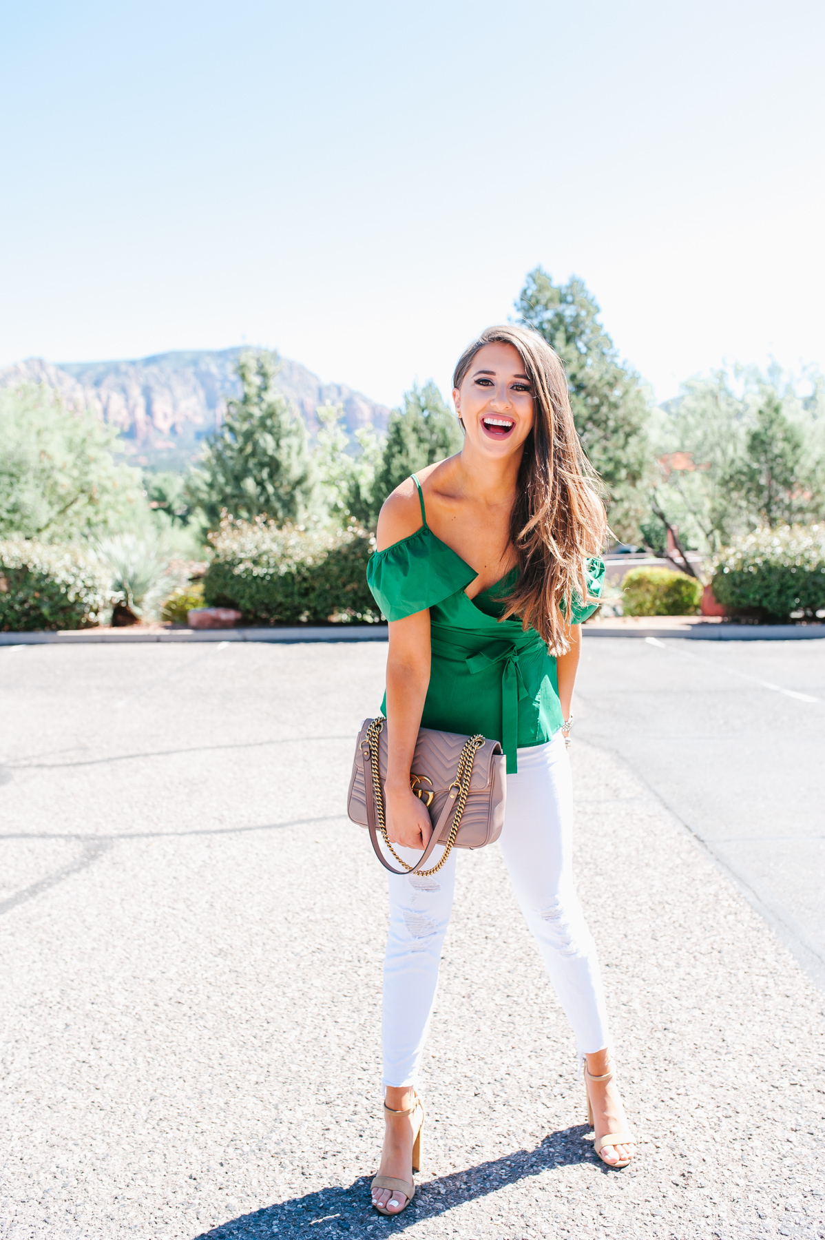 Green top, scottsdale, fall fashion, arizona