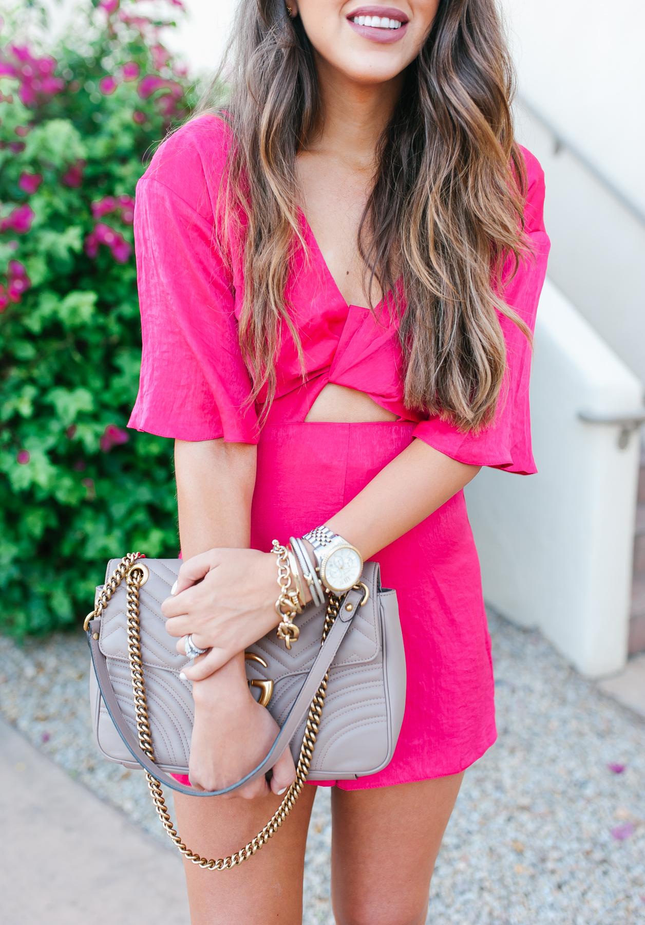 Pink Romper Scottsdale Arizona, Topshop pink romper