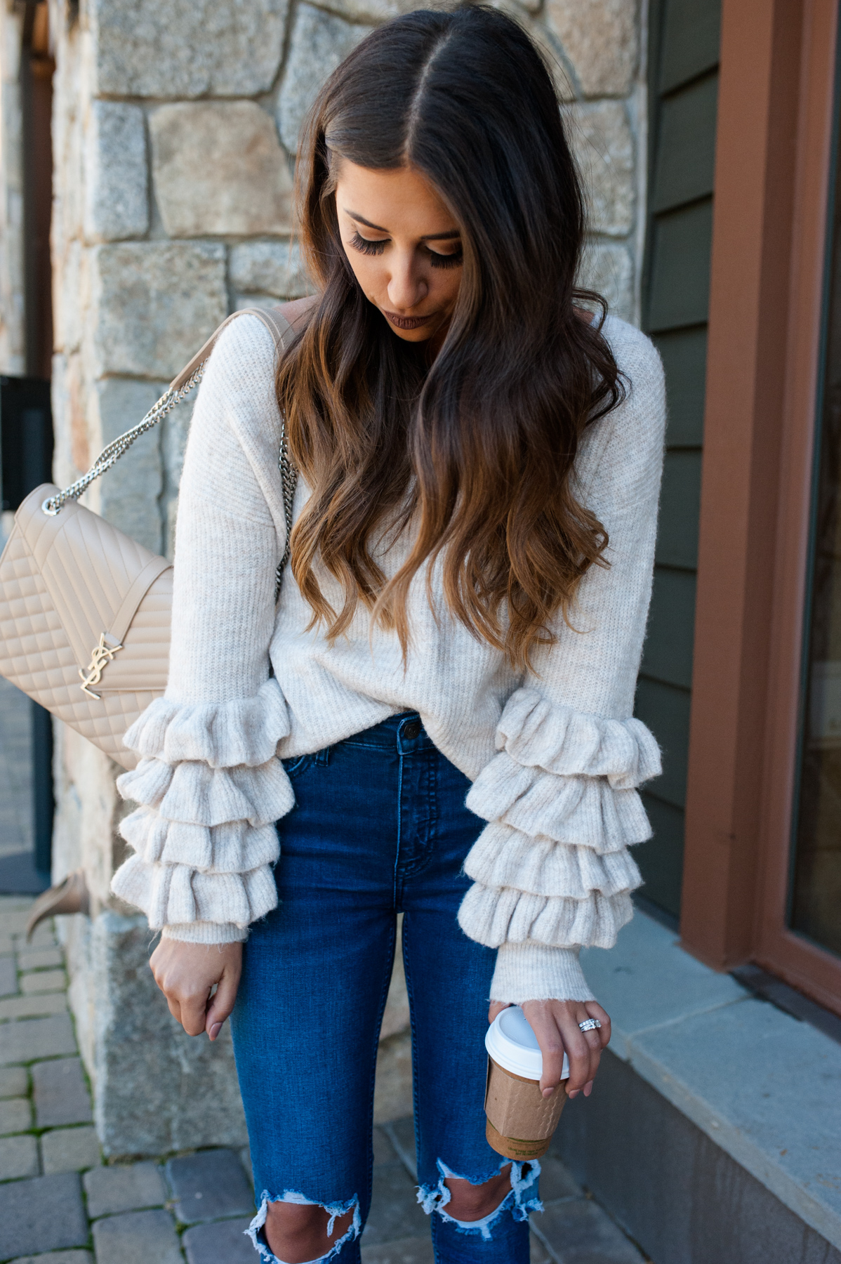 Ruffle Long Sleeve Sweater | Dress Up Buttercup