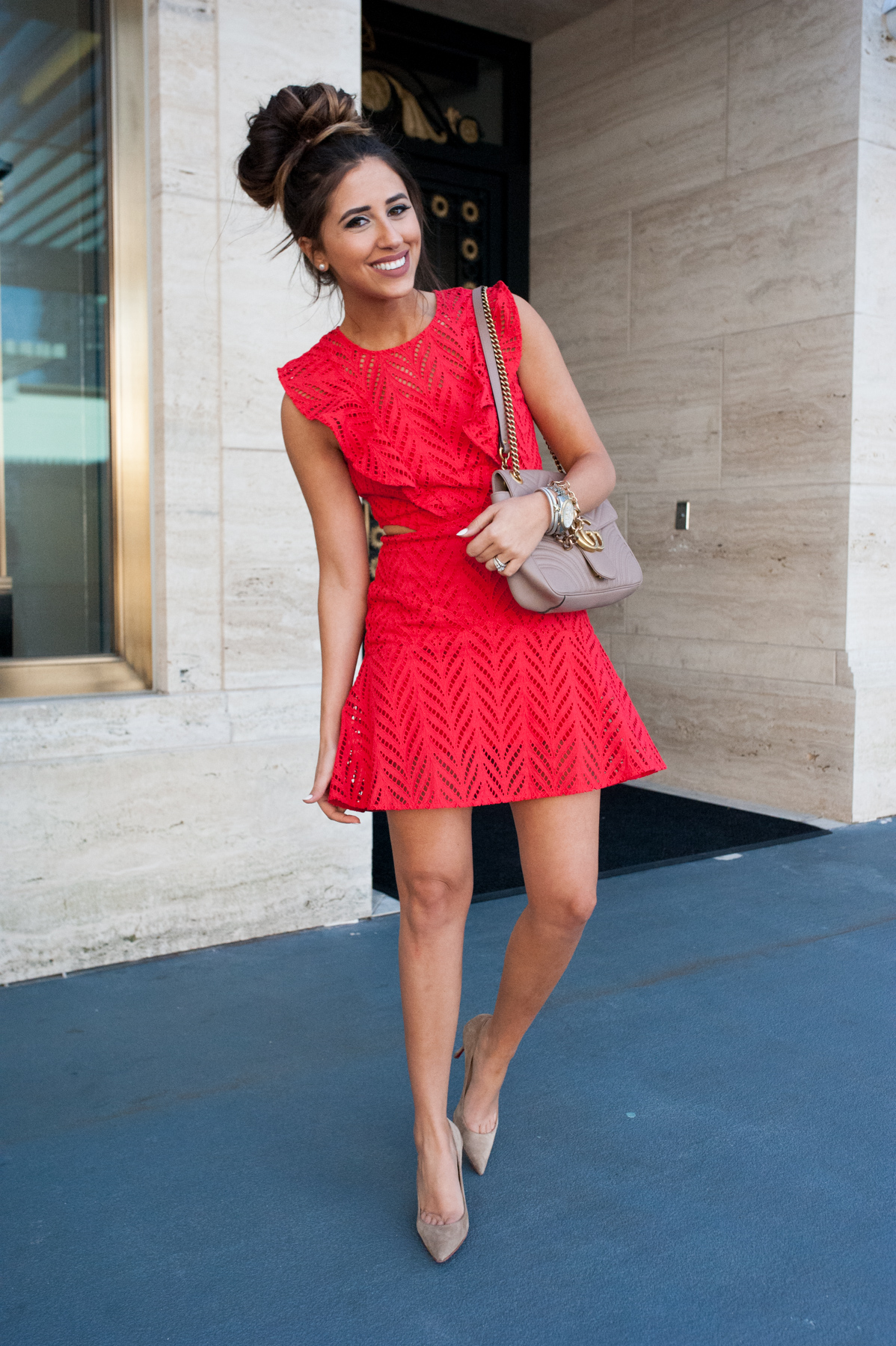 Eyelet Red | Dress Up Buttercup