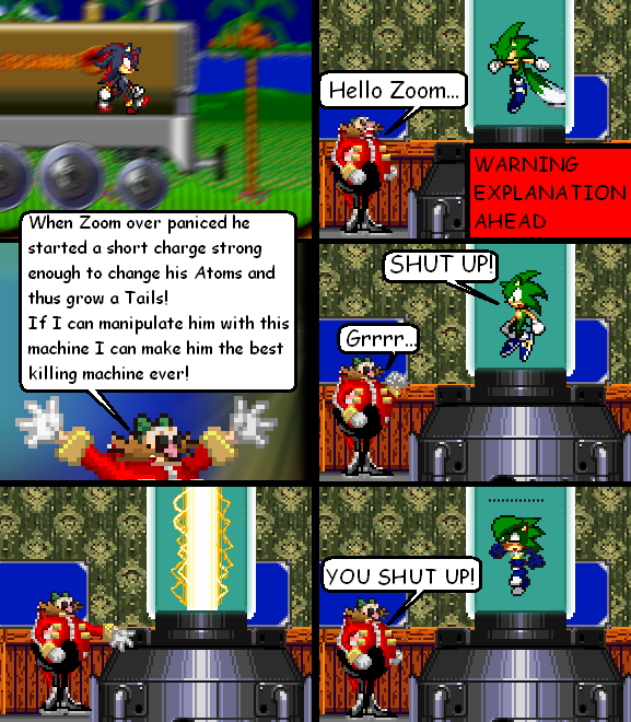 Sonic The Hedgehog In The Comic On The Duck Zoom S Mutanting