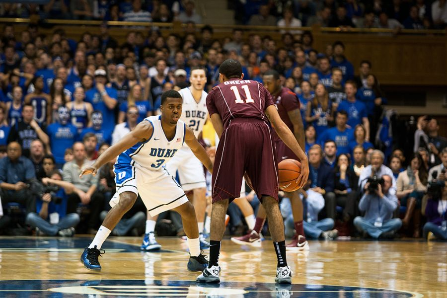 Tyler Thornton's defense helped the devils escape an overtime loss Saturday at Cameron Indoor Stadium against the Hokies.