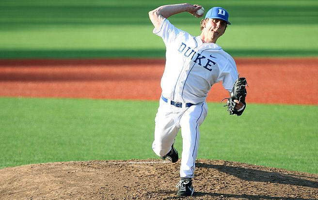 Freshman Nick Piscotty struck out seven in five scoreless innings when Duke faced Davidson March 27.
