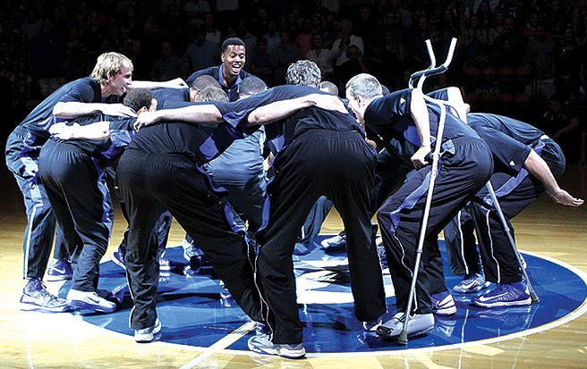 The Blue Devils and head coach Mike Krzyzewski stressed togetherness at Countdown to Craziness.