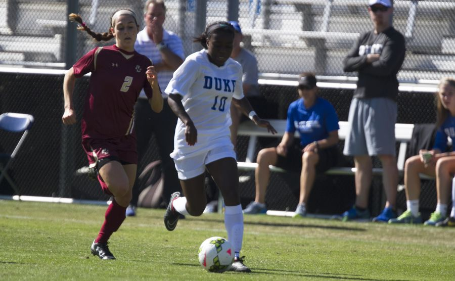 Sophomore Toni Payne netted the game-winning goal against Boston College Sunday.
