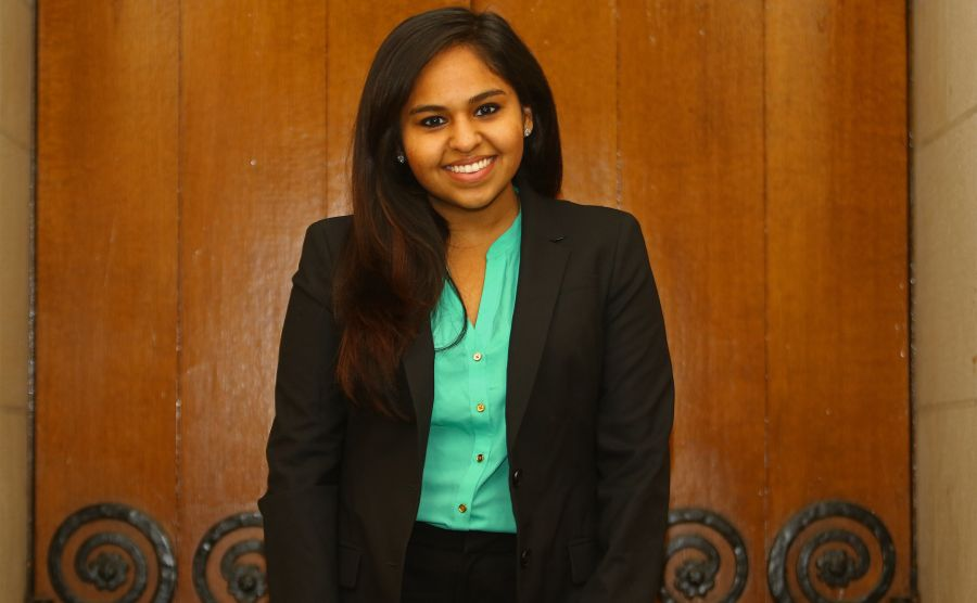 Junion Keizra Mecklai is currently running for DSG president.
