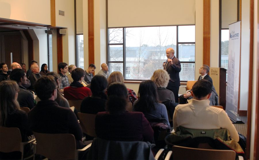 Time Magazine columnist Joe Klein spoke Tuesday at the Sanford School of Public Policy, as part of the Hart Leadership Program's Connect to Politics speaker series.