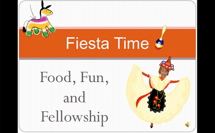 "A ""fiesta""-themed PowerPoint produced by the Program in Education for welcome parties at the start of the 2008-2009 academic year underscored Mendez' concerns."