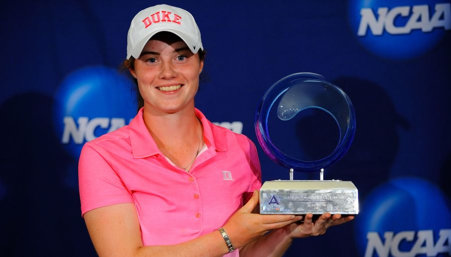 Duke freshman Leona Maguire won the ANNIKA Award as the year's top female golfer. | Photo Credit Tim Cowie