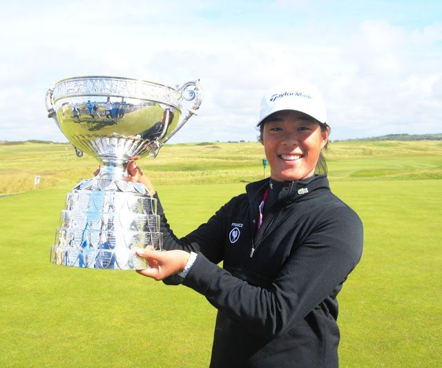Senior Celine Boutieir won the Ladies' British Open Amateur June 13, guaranteeing herself a spot in RICHO Women's British Open and U.S. Women's Open later this summer. | Photo Credit Colin Farquharson